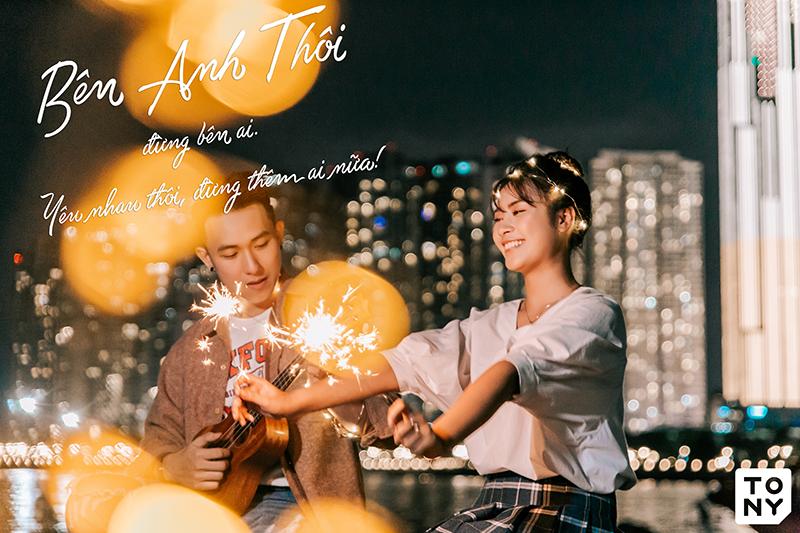 Chụp ảnh cưới đêm Sài Gòn
