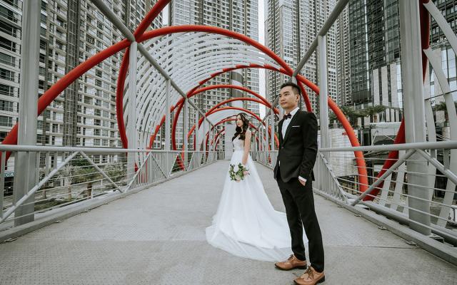 ảnh cưới vinhomes central park