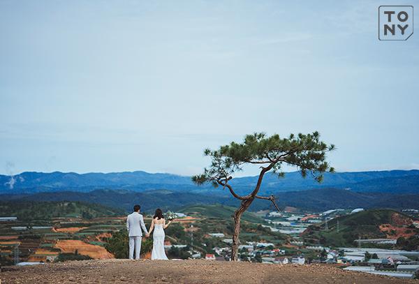Chụp ảnh cưới đồi thiên phúc đức