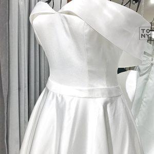 Váy cưới vải phi